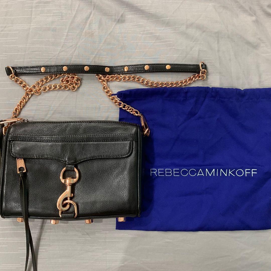f62e67fecb8 Rebecca Minkoff Rose Gold Mini Mac Crossbody Bag, Women's Fashion ...