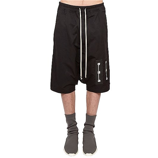 912f6bd085 Rick Owens DRKSHDW patch detail shorts - Black - Medium, Men's ...