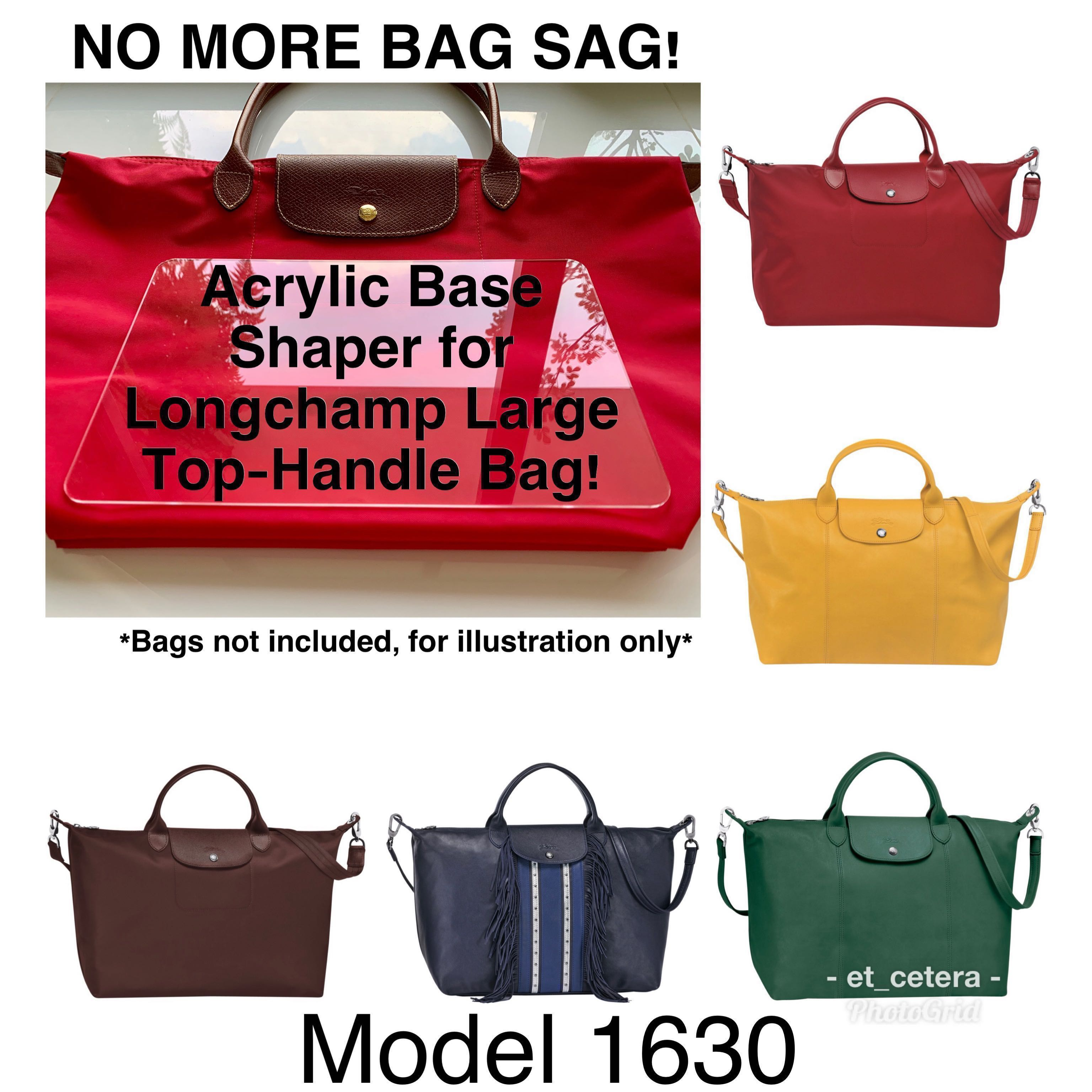 d2bf96bf581 BN Acrylic Base Shaper/Insert for Longchamp Le Pliage Neo Large Top-Handle  Bag (Model 1630), Women's Fashion, Bags & Wallets, Handbags on Carousell