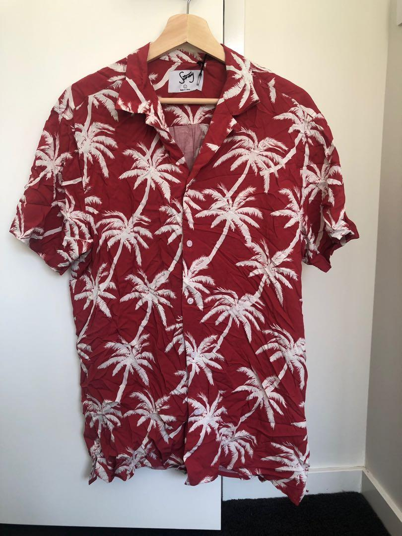 Short sleeve tropical prints