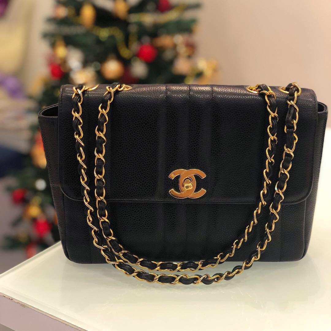 ❌SOLD!❌ Super Good Deal! Chanel SMALL flap (23cm) in black caviar ... b217e4082cdf8
