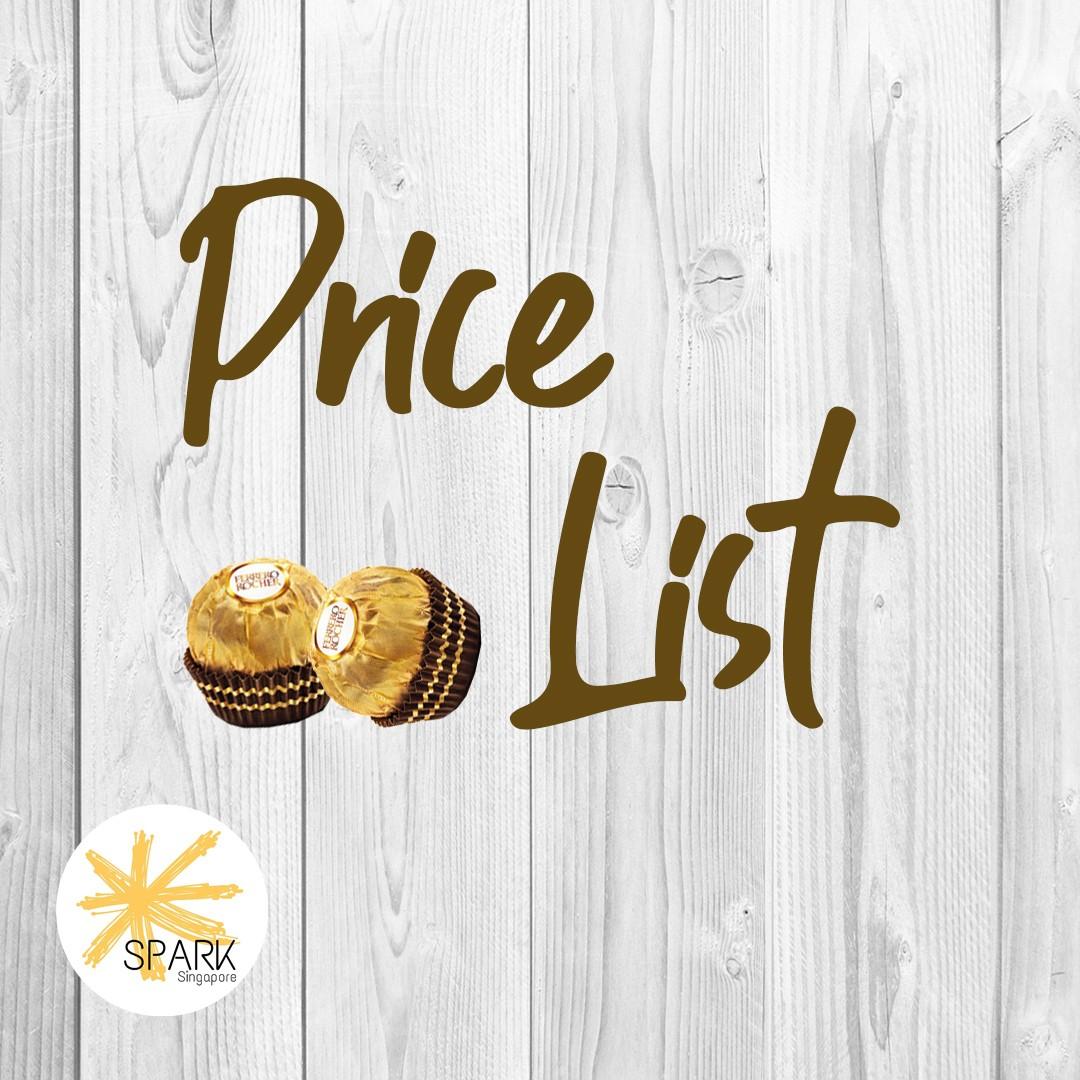 Spark Singapore Price List!