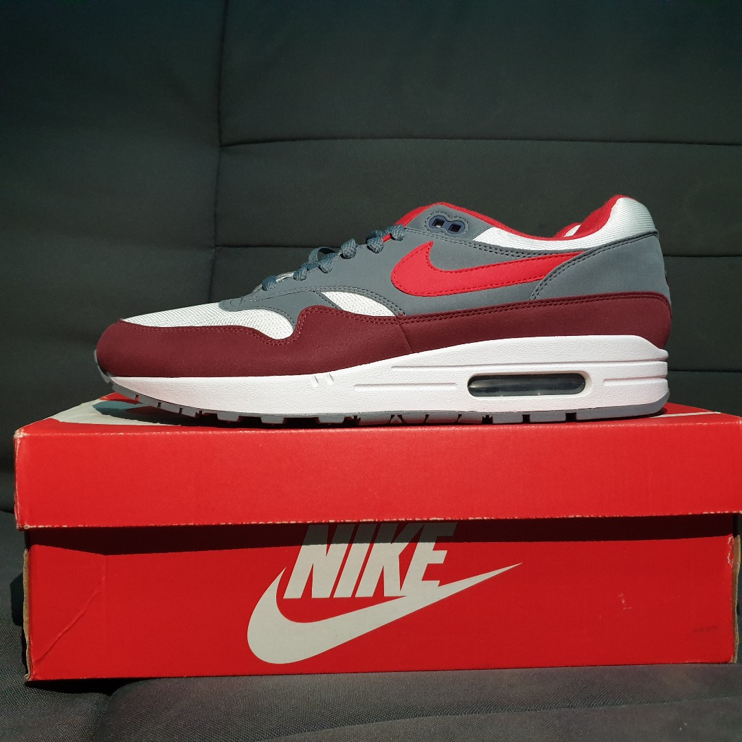 6a388d3c7f STEAL* US11 Nike Air Max 1 University Red/Wolf Grey, Men's Fashion ...