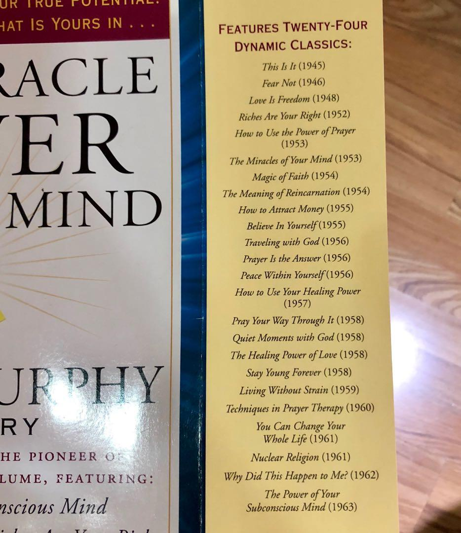 The Miracle Power of Your Mind - The Joseph Murphy Treasury 24 dynamic classics