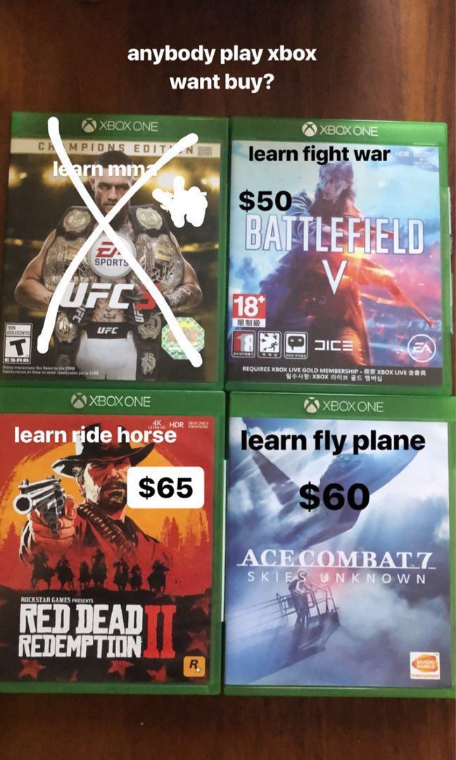 Xbox One Games, Toys & Games, Video Gaming, Video Games on
