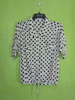 Polkadots Polo with Tie knot