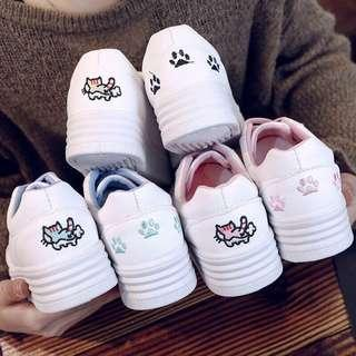 Embroidery Cute Cat 🐱 Shoes Sneakers