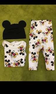 🚚 [babe。衣料] H&M米奇三件組