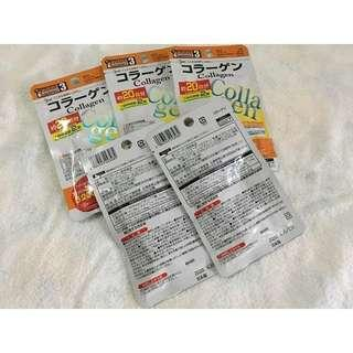 Daiso Fish Collagen 40 Tablets Orange Pack