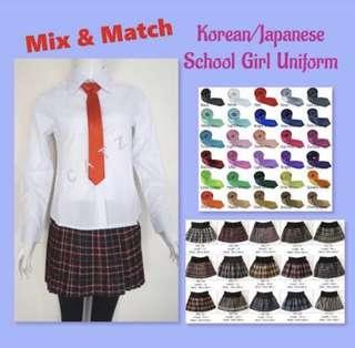 🚚 < CATZ > School Girl Uniform Korean School Girl Uniform Japanese School Girl Uniform Mix And Match School Girl Uniform