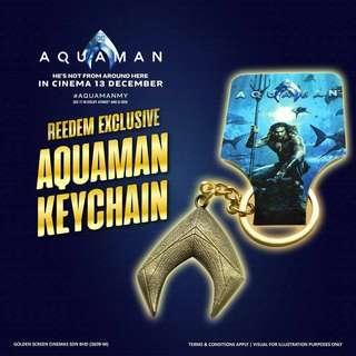 🚚 Aquaman Emblem Logo Keychain GSC Limited Edition