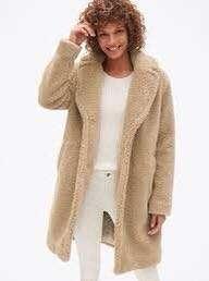 Gap teddy coat size small
