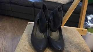 🇯🇵日本製羊仔皮 黑色高跟鞋