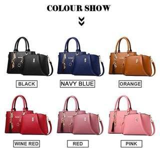 PU Leather Handbag+Shoulder Bag