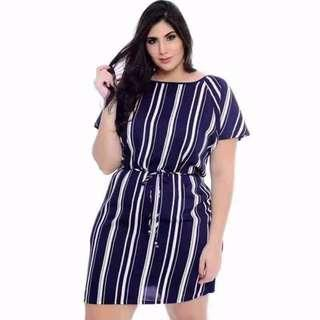 Plus Size Stripes Dress 02