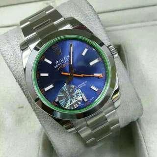 Jam Tangan Pria Rolex Milgaus Blue Clone 1:1