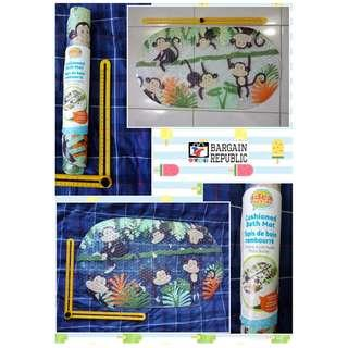 Idea Factory Zoo Pals Bath Mat - Non-Slip Construction - Easy to Clean - 100% BPA, Latex, Phthalate, and Lead Free - Safe and Comfortable, NON-SLIP.., By Ginsey Home Solutions P450