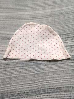 Topi Bayi Polkadot Pink
