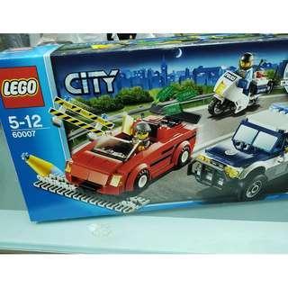 MISB 全新 Lego 60007 City 系列 High Speed Chase (100%靚盒)