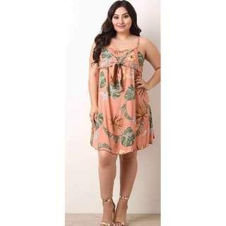 Plus Size US Inspired Floral Dress