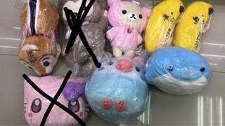 日本景品 大鼻 鬆弛熊 海豚 鸚鵡 hello kitty minions 公仔