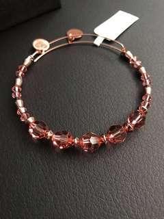 Brand New ALEX AND ANI Peony Beaded Bangle with Swarovski® Crystals