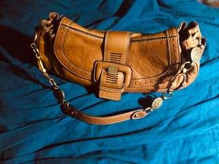 Authentic  Klein Camel Genuine Leather Bag
