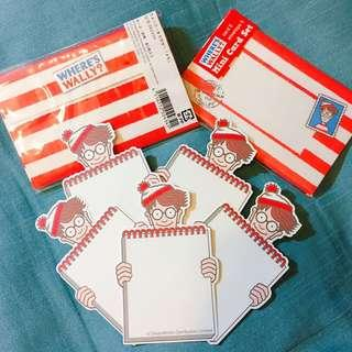 日本版🇯🇵 Wally Mini Card Set~ Where's Wally Exhibition🔍 Wally 萬用咭🔎🔍