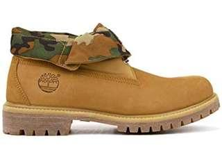 New Timberland Camo Roll Down Men's sz 12 Boots