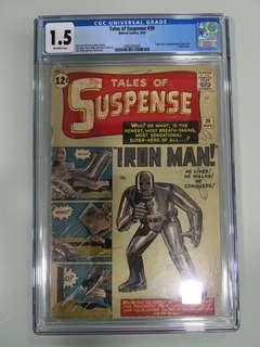 Tales Of Suspense #39, 1st Apperance of Ironman, CGC 1.5, Silver Age Key!!