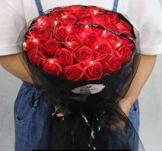情人節 玫瑰香皂花花束 生日禮物