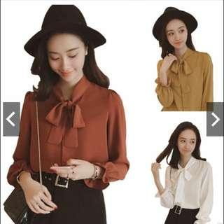 Korean Girls Fashion Loose Blouse