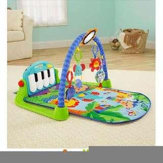 🚚 費雪牌 Fisher-Price 可愛動物小鋼琴健身器