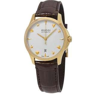 🚚 Gucci G-Timeless Automatic Silver Dial Watch YA126470