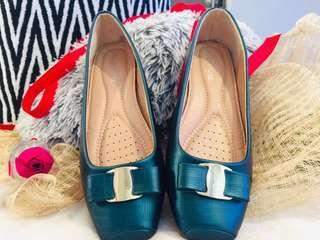 Emerald Green Flat Shoes