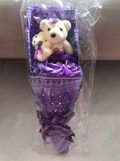 Double Bears bouquet