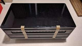 Free Coffee Table - Tempered Glass with Drawers