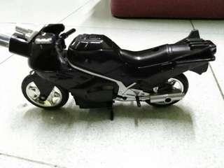 Vintage 95 black power rangers motorcycle loose