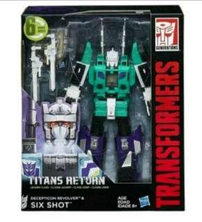 全新 美版 變形金剛 Transformers Generations Titans Return Leader Class Six Shot