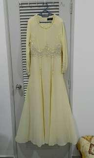 Dress bridesmaid baju raya baju dinner gaun