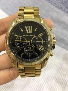 MK 三眼金色手錶
