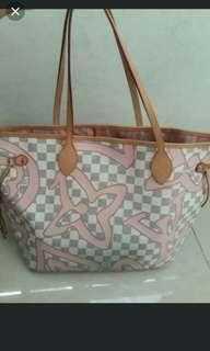 (YES TRADES!) *Boutique grade* lv neverfull mm rose ballerine* in excellent condition 9.5/10 * chat to buy if int
