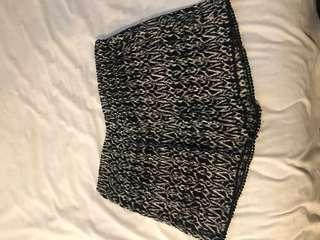 Black and White Print Shorts