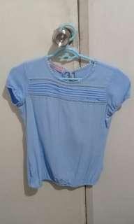 Crissa blue blouse