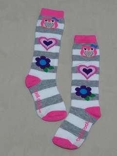 極新,貓頭鷹及膝襪(粉紅色),適合約110公分穿