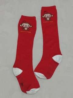 近新品,可愛小猴子及膝襪,適合約110公分穿