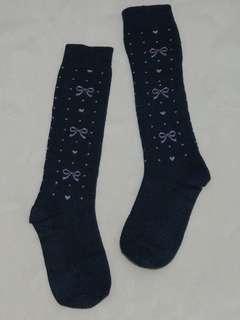 近新品,優雅及膝襪,適合約130公分穿