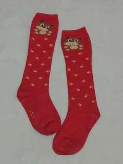 近新品,可愛熊熊及膝襪,適合約120公分穿