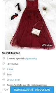 Sale overall maroon