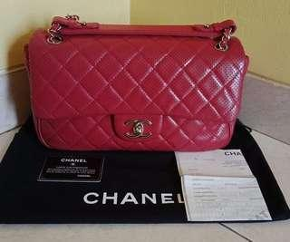 Chanel perforated
